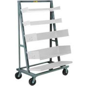 Little Giant® A-Frame Adjustable Tray Shelf Truck AFS-2440-6PH, Single-Sided
