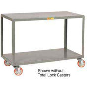 Little Giant® Mobile Table IP-2436-2TL, 2 Shelf, 24 x 36, Locking Casters