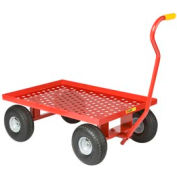 Little Giant® Nursery Wagon Truck LWP-2436-10P - Perforated Deck - 10 x 3.50 Pneumatic Wheels