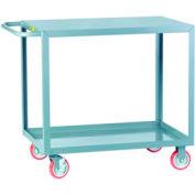 Little Giant® All Welded Service Cart LG-3060-BRK, 2 Flush Shelves, 30 x 60