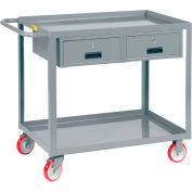 "Little Giant® Service Cart, 2 Drawers & 2 Lip Shelves, 24""Wx36""L"