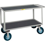 Little Giant® Flush Handle Instrument Cart Lip Non-Slip Vinyl Shelves 24x48