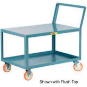 Little Giant® Low Deck Shelf Truck LKL-2448-5PYBK, Lip Shelves, Sloped Handle, 24 x 48