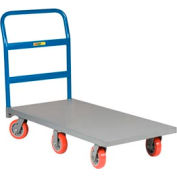 Little Giant® 6-Wheel Platform Truck NB6W-3048-6PY - 30 x 48 - Polyurethane Wheels - 3600 Lb.