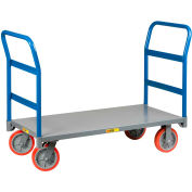 Little Giant® Double Handle Platform Truck NBB-3072-8PY-2H - 72 x 30 3600 Lb. Cap.