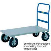 Little Giant® H/D Platform Truck NBB-3048-8MR-FL - 30 x 48 - MORT Wheels with Floor Lock