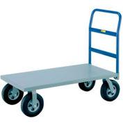 Little Giant® Heavy Duty Platform Truck NBB-3048-8PYBK - 30 x 48 - Poly Wheels -3600 Lb. Cap.
