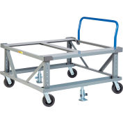 Little Giant® Adj. Height Pallet Stand with Handle PDEH42-6PH2FLLR 42x48 Open Deck & Retainers