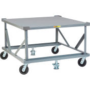 Little Giant® Fixed Height Pallet Stand PDFS48-6PH2FLLR - 48 x 48 Solid Deck & Load Retainers