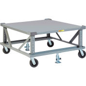 Little Giant® Adj. Height Pallet Stand PDSE48-6PH2FLLR - 48 x 48 Solid Deck & Load Retainers