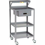 Little Giant® Mobile Shop Stand PSR-2224-3RBK-DR, 24 x 22