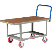Little Giant® Work Height Platform Truck RNH-2448-6PY with Hardboard Top 24 x 48 Fixed Height