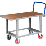 Little Giant® Work Height Platform Truck RNH-2460-6PY-AH with Hardboard Top 24 x 60 Adj. Height