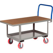 Little Giant® Work Height Platform Truck  RNH2-3048-6PY with Lower Shelf 30 x 48 Fixed Height