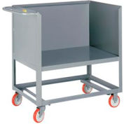 Little Giant® Raised Platform Box Truck RP3S-2436-5PY, 3 Solid Sides 24x36 1200 Capacity