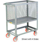 Little Giant® Raised Platform Box Truck RP3X-2448-5PY, 3 Expanded Metal Sides 24x48 2000