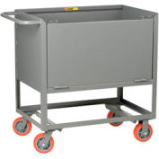 Little Giant® Raised Platform Truck with Drop-Gate RPDS-2448-6PY, Solid Sides, 24 x 48