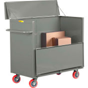 """Little Giant® Security Box Truck, Solid Sides, 30x60, 3600 lbs Cap, 6"""" Poly Wheels"""