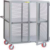 "Little Giant® HD Job Site Security Box Truck w/Center Shelf, 24x48, 6"" Poly Wheels"