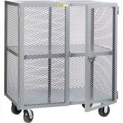 Little Giant® Mobile Storage Locker SC-3060-6PH, 1 Center Shelf, 30x60, Phenolic Wheels