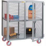 Little Giant® Mobile Storage Locker SC-3060-6PPY 1 Center Shelf 30x60 Polyurethane Wheels