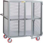 "Little Giant® HD Job Site Security Box Truck w/Center Shelf, 30x72, 6"" Poly Wheels"