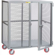 Giant® petit stockage Mobile Locker SCN-3048-6PPY, 30 x 48, roues en polyuréthane
