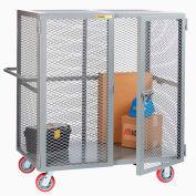 "Little Giant® HD Job Site Security Box Truck w/Handle, No Center Shelf, 30x48, 6"" Poly Wheels"