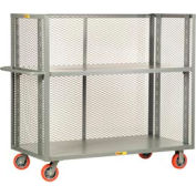 Little Giant® 3-Sided Adjustable Truck T2-A-2460-6PY, Mesh Sides, 24 x 60