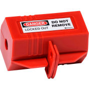 "Brady® 65674 Plug Lockout 110 Volt With Danger Label, Polypropylene, 3-1/8""W x 2""H"