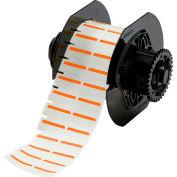 "Brady® B33-152-494-OR B-494 Color Polyester Labels 0.375""H x 1""W Orange/White, 1500/Roll"