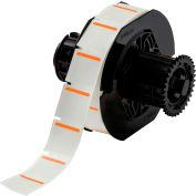 "Brady® B33-179-494-OR B-494 Color Polyester Labels 1""H x 1""W Orange/White, 1500/Roll"