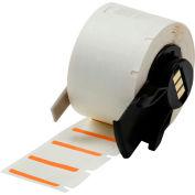 "Brady® M61-17-494-OR B-494 Color Polyester Labels 0,5""H x 1""W Orange/White, 500/Roll"