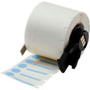 "Brady® M61-98-494-BL B-494 Color Polyester Labels 0.375""H x 1""W Blue/White, 500/Roll"