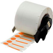 "Brady® M61-98-494-OR B-494 Color Polyester Labels 0,375""H x 1""W Orange/White, 500/Roll"
