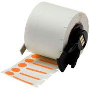 "Brady® M61-98-494-OR B-494 Color Polyester Labels 0.375""H x 1""W Orange/White, 500/Roll"