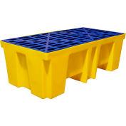 Brady® SC-DP2 2-Drum Spill Containment Pallet Platform 68.7 Gallon Capacity