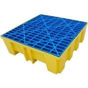 Brady® SC-DP4 4-Drum Spill Containment Pallet Platform 128.9 Gallon Capacity
