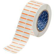 "Brady® THT-152-494-OR B-494 Color Polyester Labels 0.375""H x 1""W Orange/White, 3000/Roll"