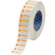 "Brady® THT-250-494-OR B-494 Color Polyester Labels 0.5""H x 1""W Orange/White, 3000/Roll"