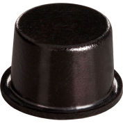 "Non-Skid Rubber Feet - Cylindrical Flat Top - Black - 0.400"" H x 0.650"" W - BS11 - Pkg of 2560"