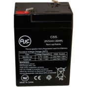AJC® Lightalarms RSQND 6V 5Ah Emergency Light Battery