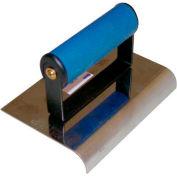 "Stainless Steel Sidewalk Edger, Comfort Grip Handle, 6""L X 4""W, 3/8"" Radius, 1/2"" Lip"