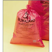 "Bel-Art Red Biohazard Disposal Bags 131652535, 10-12 Gallon, 2.0 mil Thick, 25""W x 35""H, 200/PK"
