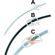 "Bel-Art F18228-0000 Acetal Mid-Range Plastic Tubing Clamps, For Tubing 1/8"" to 7/16"" O.D., 12/PK"