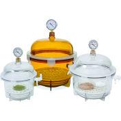 Bel-Art F42400-2021 Lab Companion Clear Polycarbonate Round Style Vacuum Desiccator, 6 Liter