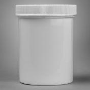 Bel-Art Screw Cap Jars 179110000, Polypropylene, 236.6ml, 70mm Closure, White, 12/PK
