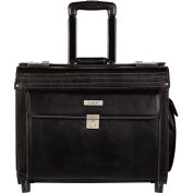 Bugatti BZCW0704 Synthetic Leather Business Case on Wheels, Black