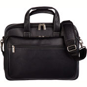 """Bugatti EXB507 Synthetic Leather Executive Briefcase, 15.6"""" Computer Case Black"""