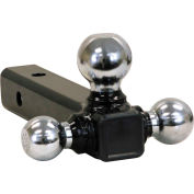 Buyers Products Tri-Ball Hitch-Solid Shank w/ Chrome Balls - 1802205